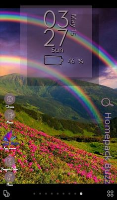 [Homepack Buzz] Check out this awesome homescreen! Indigo Blues Ways All the Beauty Enjoy Our Earth Colorful Lavender  Blue Gold Peach Orange Purple Pink Butterflies  Sun Landscape Blue Skies a colorf…