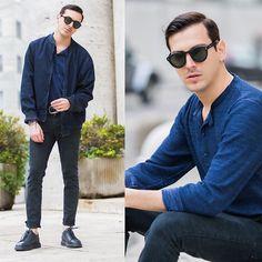 Get this look: http://lb.nu/look/8172233  More looks by Roberto De Rosa (instagram : robertoderosa): http://lb.nu/robertoderosa  Items in this look:  Tommy Hilfiger Bomber, Mykonos Kopajos Sunnies, Diktat T Shirt, Cheap Monday Jeans, Alberto Guardiani Shoes   #casual #preppy #street #robertoderosa #tommy #streetstyle #cheapmonday #albertoguardiani #milano