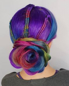 * Hair ColorHair Color Ideas For Updo Hair And Bun Hair Styles - megson Mint Hair, Neon Hair, Yellow Hair, Purple Hair, Hot Hair Colors, Hair Color Blue, Colored Hair, Two Toned Hair, Hair Shades