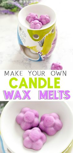 Learn How To Make Scented Wax Melts to burn safely in a decorative warmer to add fragrance to your home. #diy #waxmelts #candletarts #candle