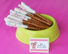 chocolate covered pretzels Go Fetch Sticks