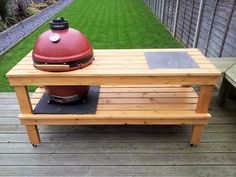 Ceramic Cooker Table Gallery -- The Naked Whiz's Ceramic Charcoal Cooking Kamado Grill, Kamado Joe, Big Green Egg Table, Ceramic Cooker, Outdoor Grill Station, Dragon Table, Grill Table, Weber Bbq, Back Gardens