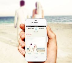 A wedding app that lets your guests take pictures of your wedding on their iphone and upload it to your app!