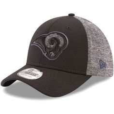 a9fd3c254 Los Angeles Rams New Era Fierce Fill Flex Hat - Black Heathered Gray. NFL  Caps   Hats