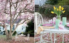 Embrace the first official day of spring by planning an afternoon gathering in the shade of a blossoming Saucier Magnolia tree. At a table set with garden-inspired plates and sunny yellow tulips, cherished friends will revel in the splendor of the season. Find more inspiration and a delicious menu here! #springhostess #gardenparty #springinthesouth