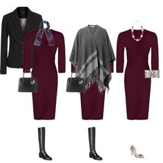 mini capsule wardrobe, I have a similar dress, add wrap I have and blazer, need to add a pair of shoes