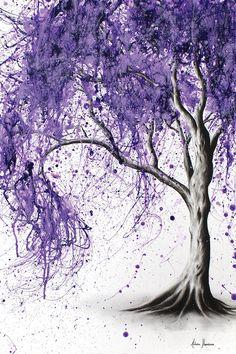 Drawing With Charcoal iCanvas Jacaranda Picnic by Ashvin Harrison Giclee Print Canvas Art - Purple Trees, Purple Art, Purple Painting, Purple Canvas Art, Abstract Canvas Art, Canvas Artwork, Landscape Artwork, Tree Art, Watercolor Paintings