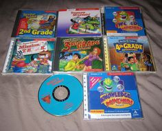 ***SOLD*** Vintage LOT Learning Company Computer CD-ROM Games WIN/MAC Rabbit Clue Gizmos #TheLearningCompany