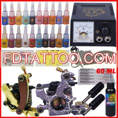 tattoo machine set for beginner permanent makeup tattoo kit 2 guns complete tattoo set Best Tattoo Kits, Tattoo Kits For Sale, Makeup Tattoos, New Tattoos, Professional Tattoo Kits, Tattoo Machine Kits, 2 Guns, Tattoo Equipment, Tattoo Needles