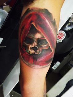 skull tattoo by anju tattoo