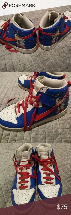 Size 8 Sonic the Hedgehog Nike Dunk's
