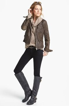 Q40 Jacket, Caslon® Pullover & Hudson Jeans Skinny Jeans  available at #Nordstrom