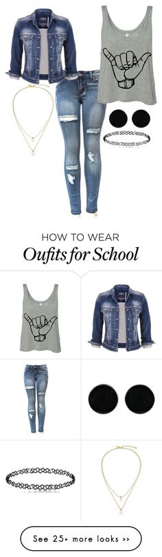 """""""Casual school day"""" by chap15906248 on Polyvore featuring maurices, Kate Spade and AeraVida"""