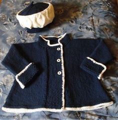 You have to see Child's Swing Coat & Hat on Craftsy! - Looking for knitting project inspiration? Check out Child's Swing Coat & Hat by member HookedOnFunKnit.This is a Drops Design pattern. You will find it in BabyDROPS 18 (book) 10 (pattern) or The knitt Knitting For Kids, Baby Knitting Patterns, Baby Patterns, Knitting Projects, Crochet Girls, Crochet For Kids, Crochet Baby, Crochet Trim, Knit Baby Sweaters