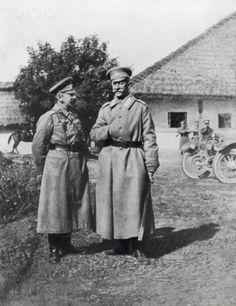 Russian Generals Gurko and Brusilov, 1917. Artist: Unknown