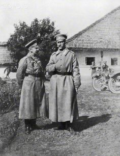 Russian Generals Gurko and Brusilov, 1917. Artist: Unknown