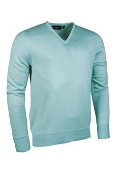 e146100eb7e UK Golf Gear - Glenmuir Mens Wilkie 100% Extrafine Merino Wool V Neck Golf  Sweater