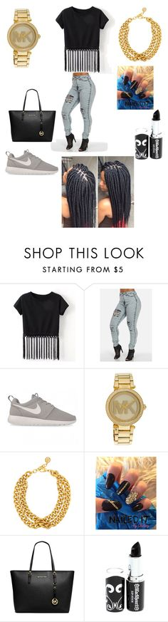 """""""Untitled #36"""" by kylasincere ❤ liked on Polyvore featuring NIKE, Michael Kors, Ben-Amun and MICHAEL Michael Kors"""