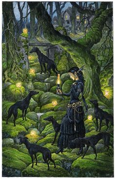 Mariana and the Black Whippets by 3-hares.deviantart.com on @deviantART