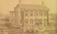 Mourning house of Abraham Lincoln #history