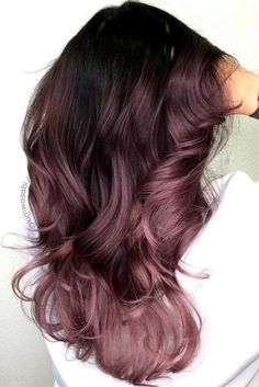 """This spring, we're seeing so many fun hair color options for brunettes—from pink to an earthy shade of """"mushroom."""" This is Dusty Lavender by This spring, we're seeing so many fun hair color options for brunettes—from pink to an earthy shade of """"mushroom. Pretty Hair Color, Ombre Hair Color, Pretty Pastel, Fun Hair Color, Beautiful Hair Color, Trendy Hair Colour, Amazing Hair Color, Color For Short Hair, Beautiful Words"""