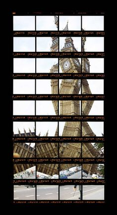 Horizontal Rows of Film Reconstruct Landmarks