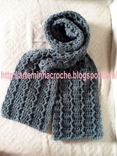 ArteMinha Croche  CACHECOL DE CROCHE MASCULINO 463f11acac7