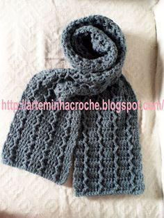 ArteMinha Croche: CACHECOL DE CROCHE MASCULINO