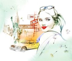Illustration by commercial fashion illustrator Natalia Sanabria represented by leading international agency Illustration Ltd.   To view Natalia's portfolio please visit http://www.illustrationweb.com/artists/NataliaSanabria/gallery/0