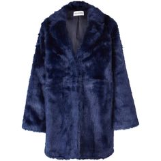 Won Hundred Marian Faux Fur Coat (145 CAD) ❤ liked on Polyvore featuring outerwear, coats, jackets, coats & jackets, blue, blue coat, won hundred, blue faux fur coat, fake fur coats and imitation fur coats
