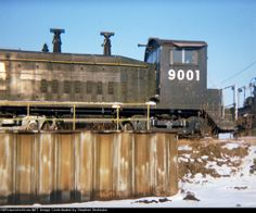CR 9001          Stored at roundhouse - ex-PC/NYC - date is approximate Date: 12/30/1980
