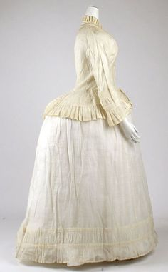 Morning dress Date: ca. 1870 Culture: American Medium