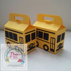 Caixinhas mini ônibus 💖💖💖