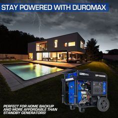 DuroMax 5000-Watt V-Twin Gas Electric Start Portable Generator - Overstock - 21544165 Gas Powered Generator, Portable Generator, Easy Keys, Gas And Electric, Roll Cage, New Engine, Large Homes, Steel Frame, Cave