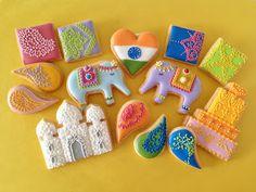 Indian Weddings Inspirations. Henna Wedding Cookies. Repinned by #indianweddingsmag indianweddingsmag.com #weddingcake