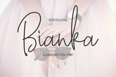 Introducing Bianka Script Font. This a handwritten font with monoline style. It comes with a ton of glips, alternate, ligatures and swashes. That will be very usefull for your project desain, especially type design.