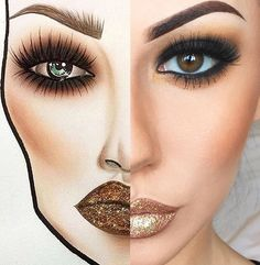 Make up ♡♥ Makeup Inspo, Makeup Inspiration, Beauty Makeup, Eye Makeup, Hair Makeup, Drugstore Beauty, Makeup Ideas, Hair Beauty, Mac Face Charts