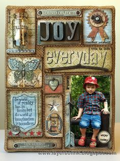 Layers of ink - 12 tags of 2014 May Burlap Panel