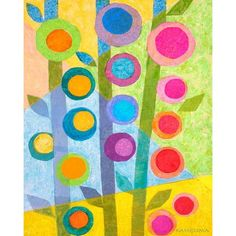 Dress up a bare wall with the Flower Stalks Canvas Wall Art from Oopsy Daisy. Canvas wall art is perfect for adding color and style to bedrooms, playrooms, nurseries and even bathrooms! Collage Simple, Collage Art, Canvas Collage, Kids Collage, Simple Art, Tissue Paper Art, Creation Art, Ecole Art, Arte Floral