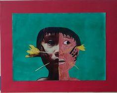 Indígena Colagem, Foto e Desenho
