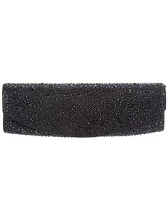 RODO Crystal embellished clutch-Black leather clutch from Rodo featuring all over tonal crystal embellishment, flap closure with concealed magnetic snap fastening and silver-tone chain shoulder strap. VIEW MORE INFO HERE: http://www.designerhandbagspurses.net/designer-handbags-are-worth-the-splurge/
