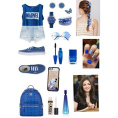 Deep Blue ? by cansu-sakin on Polyvore featuring polyvore, moda, style, Uniqlo, Zara, Vans, MCM, Stephen Webster, Shinola, MARC BY MARC JACOBS, Lipsy, Disney, Davidoff and Nails Inc.