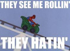 funny spiderman meme pictures - Dump A Day Image Spiderman, Amazing Spiderman, Batman Spiderman, Spider Meme, Funny Spider, They See Me Rollin, Funny Memes, Hilarious, Meme Pictures