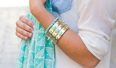 Mint gold studded cuff lifestyle 12