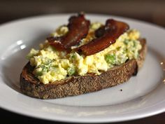 Dinner Tonight: Open-Faced Egg Salad Sandwich With Bacon Bacon Recipes, Egg Recipes, Cooking Recipes, Recipe Tonight, Egg Salad Sandwiches, Food Lab, Dinner Salads, Serious Eats, Easy Healthy Recipes