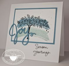 Yvonne is Stampin' & Scrapping: Stampin' Up! Work of Art winter card