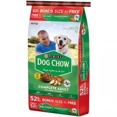 Dog Food Complete Adult Dry Pet Supplies Made with Real Chicken Crunchy Healthy Protein, Protein Foods, Healthy Life, Purina Dog Chow, Dog Food Online, Wet Dog Food, Chow Chow, Dog Love, Dog Food Recipes
