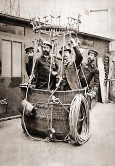 "my-ear-trumpet:  "" thefuzzydave:  "" Ballooners, 1895, France.  ""  Stylish chaps  """