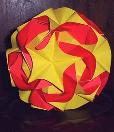 Origami revealed flower popup star crafts pinterest figuras geomtricas mightylinksfo