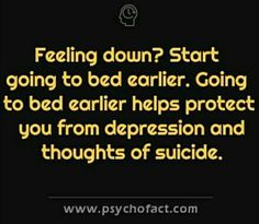 Feeling down, sleep earlier, depression, suicide Applied Psychology, Psychology Says, Psychology Quotes, True Facts, Weird Facts, Psycho Facts, Physiological Facts, Colleges For Psychology, Feeling Down